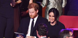 Meghan and Harry in the royal box at the Royal Albert Hall Photo C PA