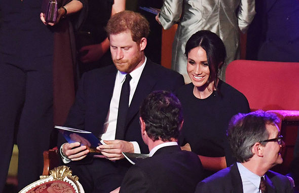 Meghan and Harry in the royal box at the Royal Albert Hall Photo (C) PA