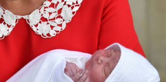 On Monday the couple welcomed the birth of their third child Prince Louis Photo (C) PA