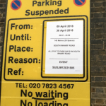 Countdown to Baby Cambridge #3 begins. The no parking signs are up outside the Lindo Wing of St. Mary's hospital, Paddington, London where Kate will give birth later this month Photo (C) TWITTER