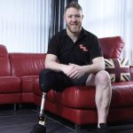 Philip Gillespie from Ballymena who lost his right leg in an IED incident in Afghanistan 1301359