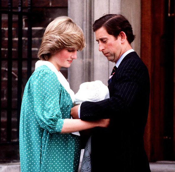 Prince Charles and Diana are pictured here with Prince William at the Lindo wing Photo (C) PA