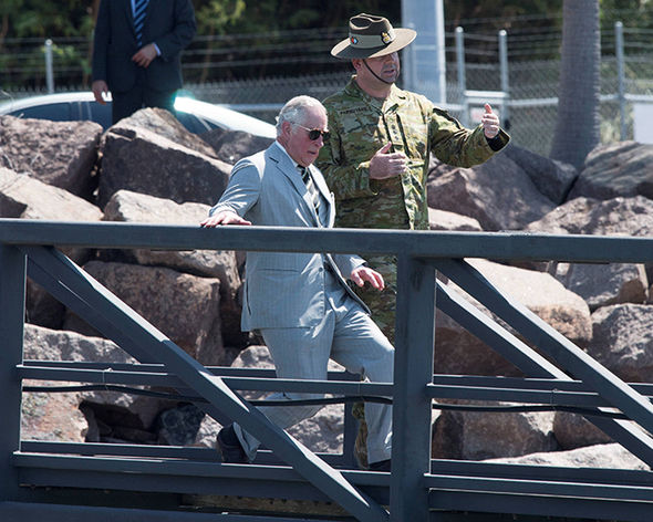 Prince Charles appeared to take a tumble Photo (C) REUTERS