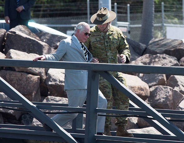 Prince Charles is on his last day his Commonwealth tour of Australia Photo (C) REUTERS