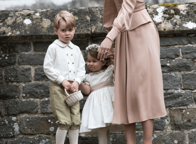 Prince George and Princess Charlotte at Pippa Middleton