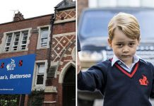 Prince George is in his first year of school in Battersea Photo (C) GETTY