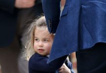 Princess Charlotte wears blue to match her dad Prince William [Wenn]