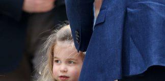 Princess Charlotte wears blue to match her dad Prince William Wenn