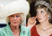 Princess Diana Wedding present worn by Camilla Parker Bowles Photo (C) GETTY