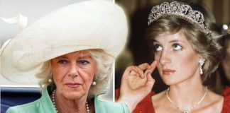 Princess Diana Wedding present worn by Camilla Parker Bowles Photo (C) GETTY