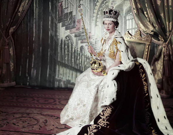 Princess Elizabeth on her Coronation Day after she was crowned Queen Photo (C) GETTY