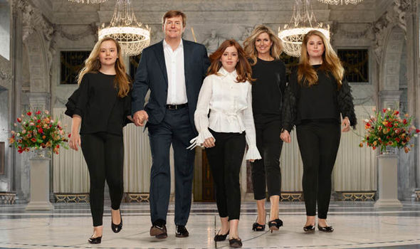Queen Maxima and King Willem-Alexander of the Netherlands have released a very modern set of portraits with their three daughters