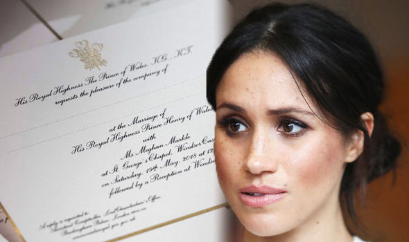 Royal wedding Meghan Markle's divorce was acknowledged on the official invitations Photo (C) KENSINGTON PALACE, TWITTER, GETTY