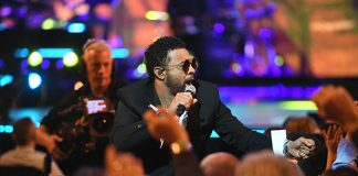 Shaggy left the stage after security told him not to Photo (C) GETTY