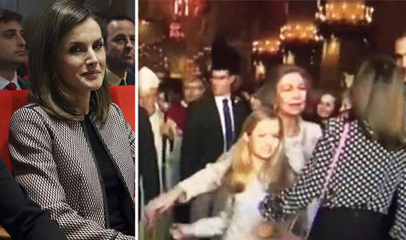 Spanish royal family Queen Letizia is said to be upset by the furore Photo (C) TWITTESpanish royal family Queen Letizia is said to be upset by the furore Photo (C) TWITTER, GETTYR, GETTY