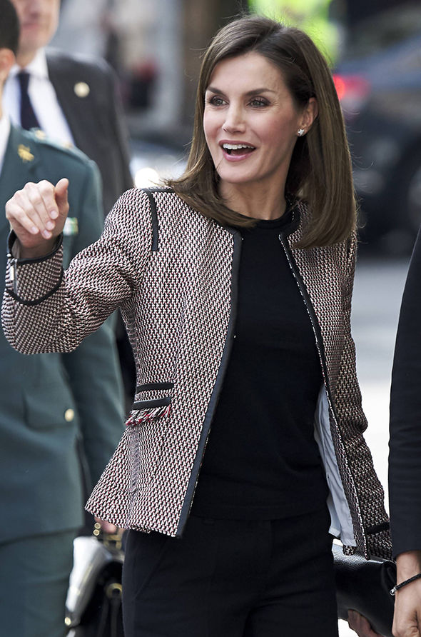 Spanish royal family Queen Letizia stepped out in Madrid today Photo (C) QC