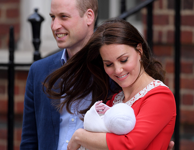 The world got its first glimpse of the new Prince of Cambridge Photo (C) PA