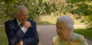 The Queen discusses her most popular present with Sir David Attenborough PhoThe Queen discusses her most popular present with Sir David Attenborough Photo (C) GETTYto (C) GETTY