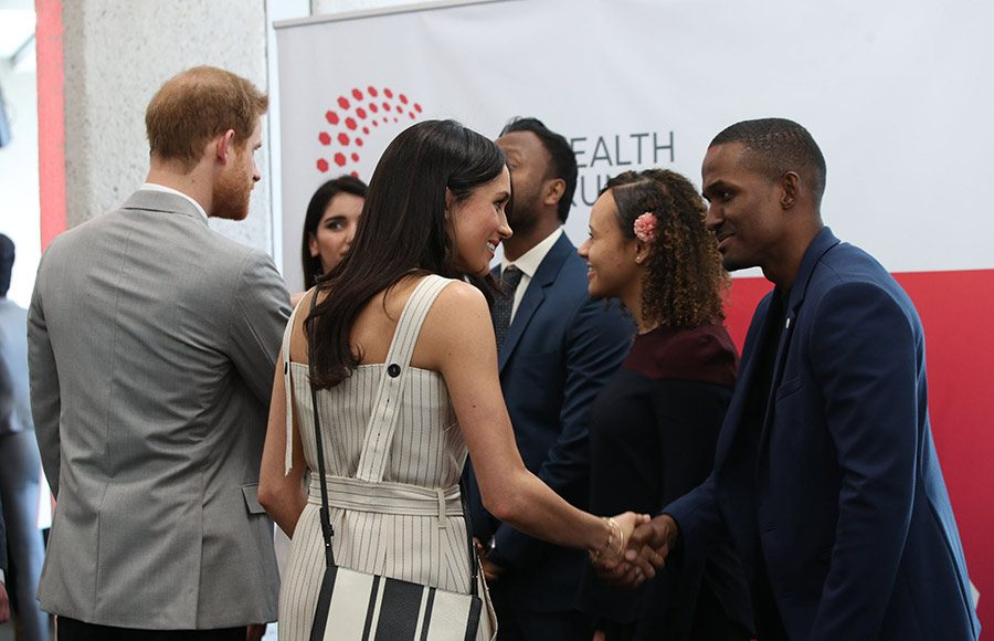 The couple appeared to be in great spirits as they mingled with delegates at the Commonwealth Youth Forum Photo (C) PA