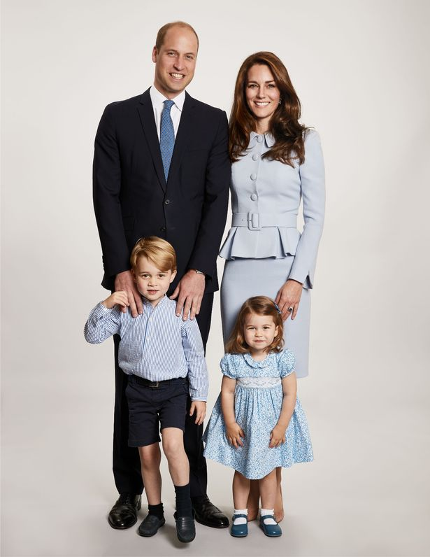 The picture used on the Duke and Duchess of Cambridges 2017 Christmas card Image PA