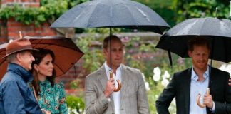 The royal trio open the White Garden. Photo (C) GETTY