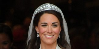 The tiara Kate Middleton wore on her wedding day is on display in AustraliaGetty