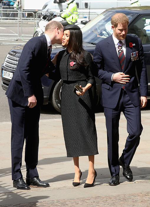William, Meghan and Harry attended an Anzac Day service in London Photo (C) GETTY IMAGES