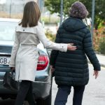 Queen Letizia sweetly walked her mother-in-law to and from their car Photo:Carlos Alvarez/Getty Images