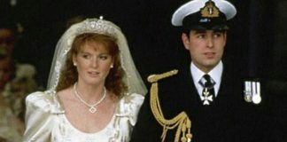 Sarah Ferguson on her wedding day in 1986