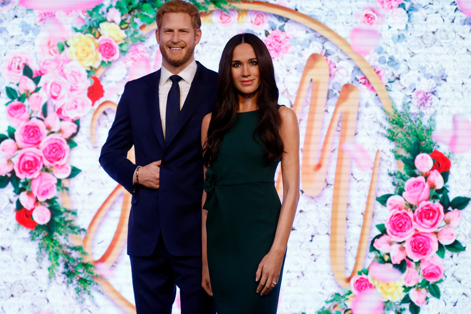 06 Wax figures of Prince Harry and Meghan Markle at Madame Tussauds London