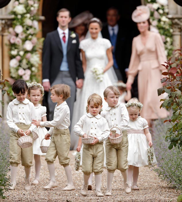 Prince George and Princess Charlotte Elizabeth Diana on Pippa Middleton Wedding Photo (C) GETTY