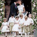 Prince George and Princess Charlotte Elizabeth Diana on Pippa Middleton Wedding Photo (C) GETTY