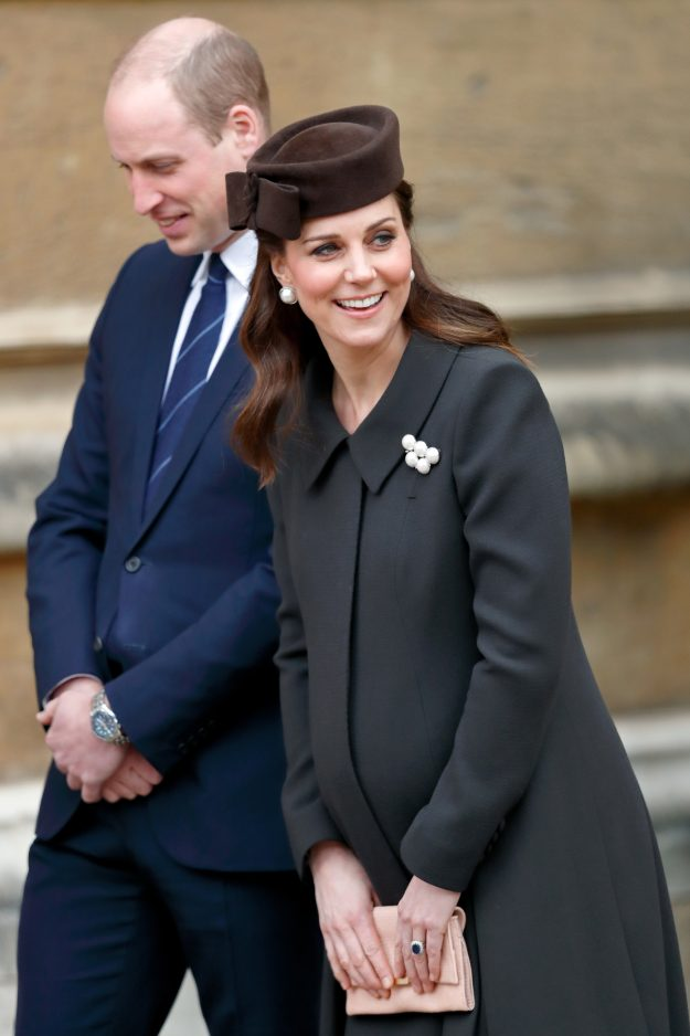 Duchess of Cambridge Kate Middleton and Prince William arrived late to the Easter service