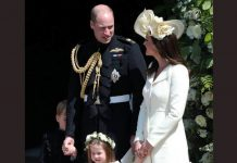 Catherine Duchess of Cambridge and Princess Charlotte at Royal Wedding Photo (C) GETTY