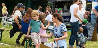 4 Catherine Duchess of Cambridge Prince George and Princess Charlotte Photo C Jack Schmollmann