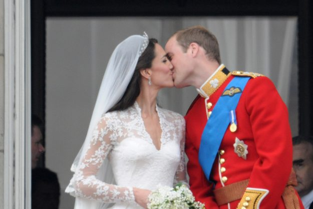 Kate Middleton and Prince William kissed on the balcony at their wedding, but things became a little overwhelming for flower girl Grace Van Cutsem