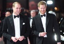 Apparently, Harry tried to change a lightbulb recently and fell off a ladder so William decided this was a good opportunity to play a prank. Photo (C) GETTY