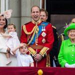 Catherine, Duchess of Cambridge, Princess Charlotte, Prince George, Prince William, Duke of Cambridge, Queen Elizabeth II Photo (C) GETTY