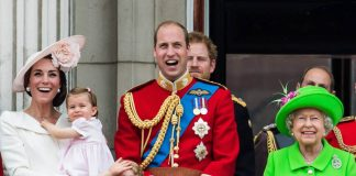 Catherine, Duchess of Cambridge, Princess Charlotte, Prince George, Prince William, Duke of Cambridge, Queen Elizabeth II Photo (C) GETTY