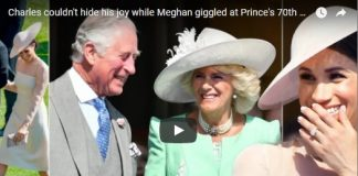 Charles couldn't hide his joy while Meghan giggled at Prince's 70th birthday party