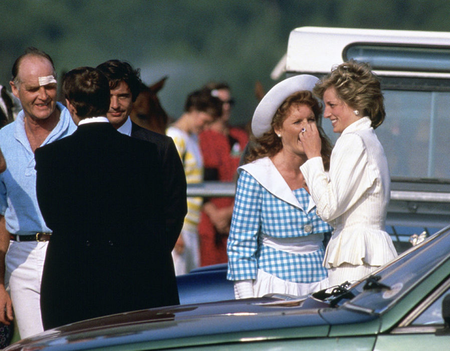 Diana, Princess Of Wales, laughing and joking with Sarah Ferguson Photo (C) GETTY