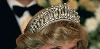 Diana Princess of Wales wearing the Lovers Knot tiara Photo C GETTY