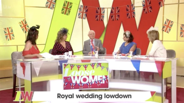 Dickie appeared on Loose women in a special royal wedding episode Photo (C) ITV