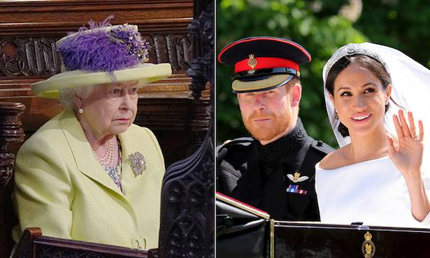 Did Prince Harry and Meghan Markle forget to curtsy to the Queen Photo (C) GETTY