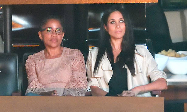 Doria Ragland touches down in the UK for her daughter Meghan Markle's wedding Photo (C) GETTY