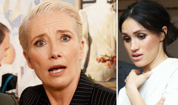 Emma Thompson has given a shocking statement about Prince Harry and Meghan Markle's royal wedding Photo (C) GETTY