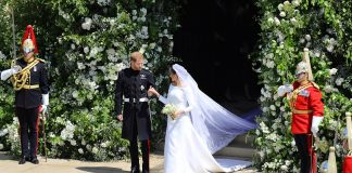 Harry looked delighted as he walked his new wife out of St Georges Chapel to start their new life together