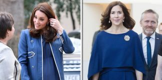 Kate Middleton Crown Princess Mary of Denmark looked just like the Duchess in blue Photo C GETTY