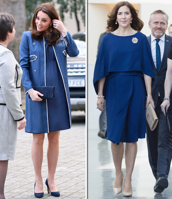Kate Middleton Crown Princess Mary of Denmark looked just like the Duchess in blue Photo (C) GETTY