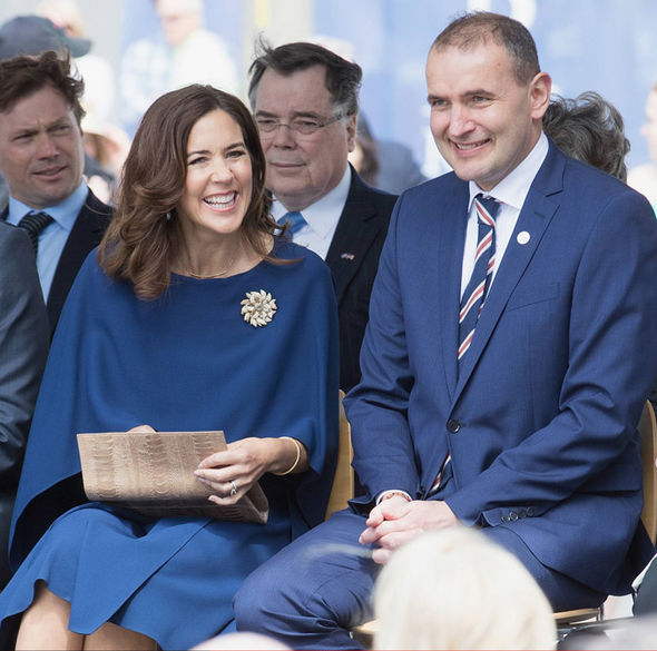 Kate Middleton Princess Mary stepped out in one of Kate's favourite colours, blue Photo (C) GETTY